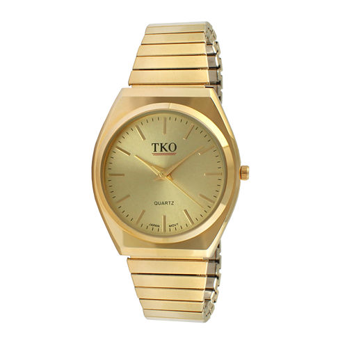 TKO ORLOGI Womens Champagne Dial EZ Flex Expansion Bracelet Watch