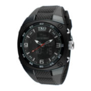 TKO ORLOGI Mens Black Silicone Strap Analog/Digital Chronograph Sport Watch