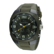 TKO ORLOGI Mens Green Silicone Strap Analog/Digital Chronograph Sport Watch