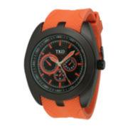 TKO ORLOGI Mens Orange Silicone Strap Multifunction-Look Analog/Digital Sport Watch