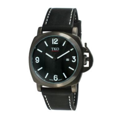 jcpenney.com | TKO ORLOGI Mens Black Leather Strap Watch