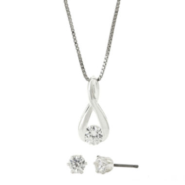 jcpenney.com | Sparkle Allure Cubic Zirconia Earring and Necklace Set