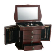 Kathy Ireland Merlot Jewelry Box