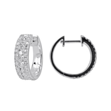 jcpenney.com | LIMITED QUANTITIES 1 CT. T.W. Diamond 14K White Gold Huggie Hoop Earrings