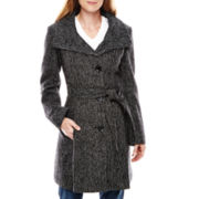 Worthington® Funnel-Neck Wool-Blend Coat - Petite