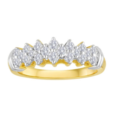 jcpenney.com | 1/2 CT. T.W. Diamond 10K Yellow Gold Pyramid Ring