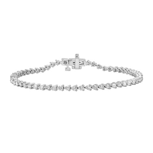 2 CT. T.W. Diamond 14K White Gold Tennis Bracelet
