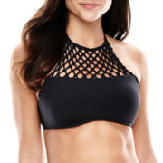 a.n.a® High-Neck Halter Swim Top