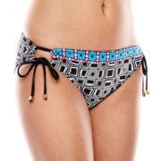 a.n.a® Geo Print Adjustable Hipster Swim Bottoms