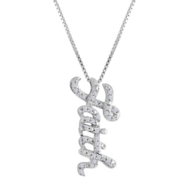jcpenney.com | 1/10 CT. T.W. Diamond Sterling Silver Faith Pendant Necklace