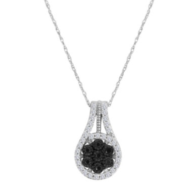 jcpenney.com | diamond blossom 1/3 CT. T.W. Color-Enhanced Black Diamond Pendant Necklace