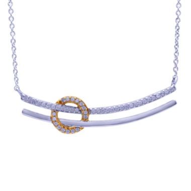 jcpenney.com | 1/5 CT. T.W. Diamond Two-Tone Necklace
