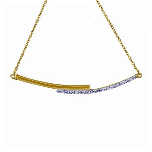 1/6 CT. T.W. Diamond Two-Tone Bar Necklace
