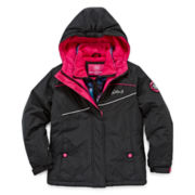 Vertical 9 Vestee Fleece-Lined Ski Jacket - Preschool Girls 4-6x