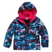 Vertical 9 Vestee Fleece-Lined Ski Jacket - Preschool Girls 7-16