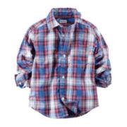 Carter's® Button-Front Plaid Shirt - Preschool Boys 4-7