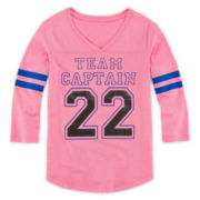 Xersion™ 3/4-Sleeve Football Tee - Girls 7-16 and Plus