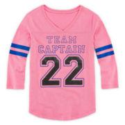 Xersion™ 3/4-Sleeve Football Tee - Girls 7-16 and Plus