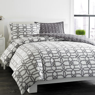 jcpenney.com | City Scene Labyrinth Trellis Duvet Cover Set