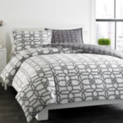 City Scene Labyrinth Trellis Duvet Cover Set