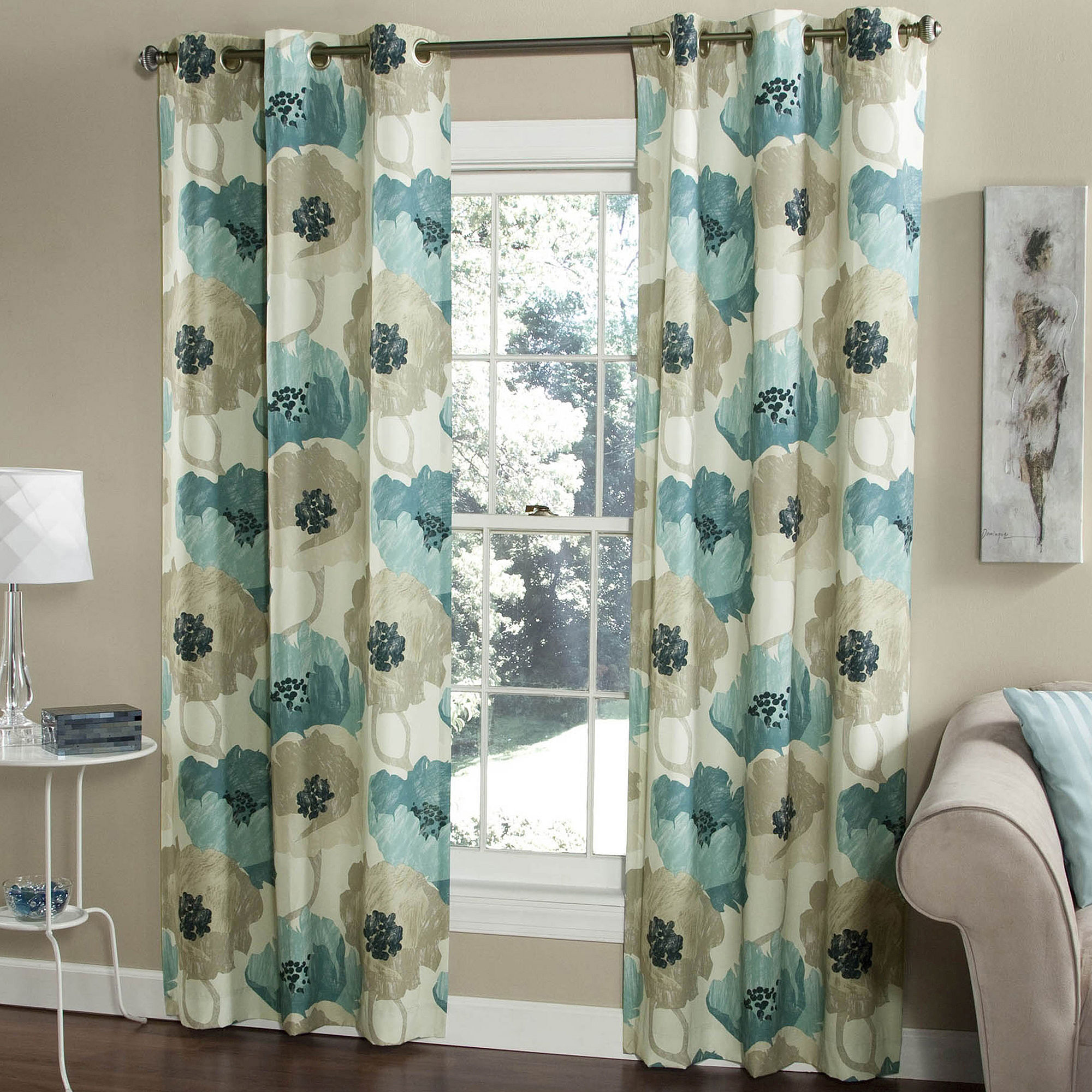 Upc 815130014335 Poppies 2 Pack Grommet Top Curtain