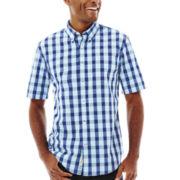 St. John's Bay® Short-Sleeve Poplin Shirt