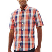 St. John's Bay® Short-Sleeve Poplin Shirt