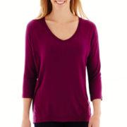 Stylus™ 3/4-Sleeve Raglan Mixed Media T-Shirt