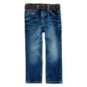 Arizona Belted Original-Fit Denim Jeans - Preschool Boys 4-7