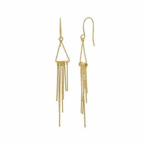 Natasha Gold-Tone Mini Fringe Earrings