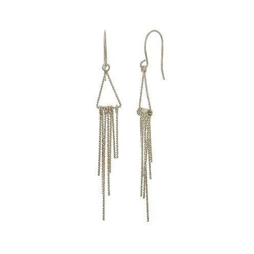 Natasha Silver-Tone Mini Fringe Earrings