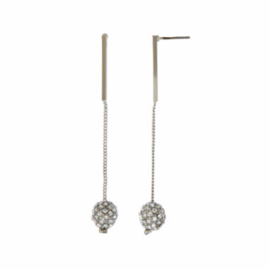 jcpenney.com | Natasha Fireball Silver-Tone Drop Earrings