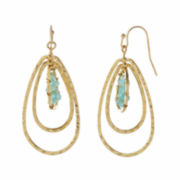 Natasha Blue 3-Row Drop Earrings