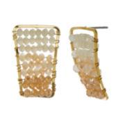 Natasha Ombre Beaded Gold-Tone Earrings