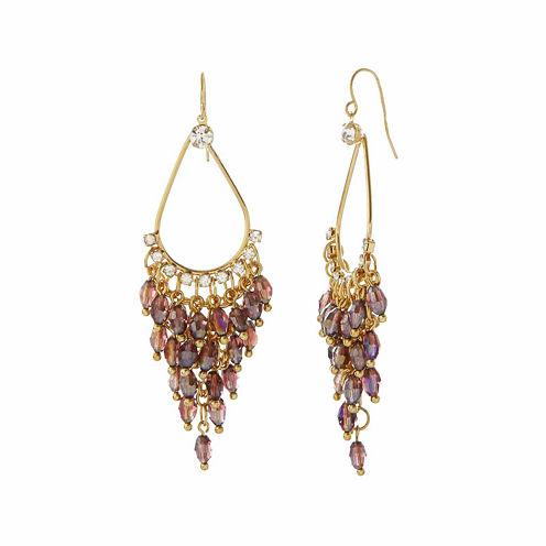 Natasha Purple Shakey Gold-Tone Earrings