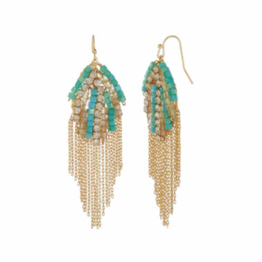 jcpenney.com | Natasha Blue Fringe Earrings