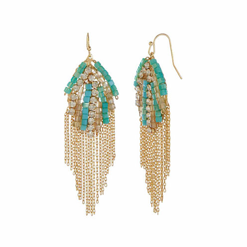 Natasha Blue Fringe Earrings