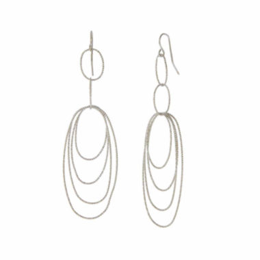 jcpenney.com | Natasha Silver-Tone Multi-Layer Earrings