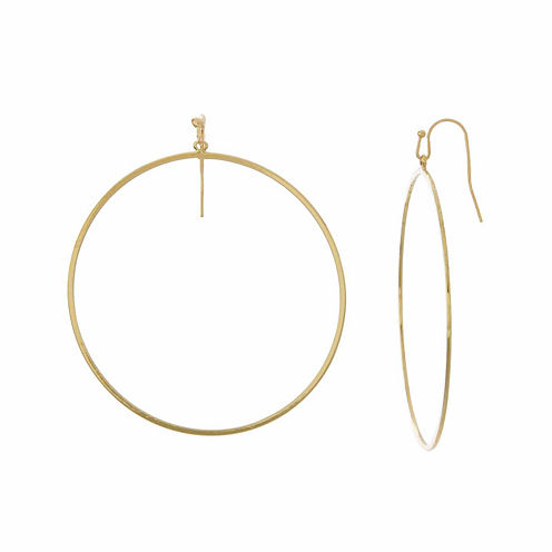 Natasha Gold-Tone Circle Earrings