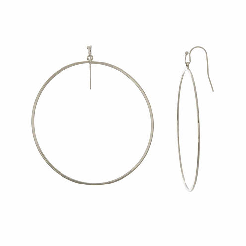 Natasha Silver-Tone Circle Earrings