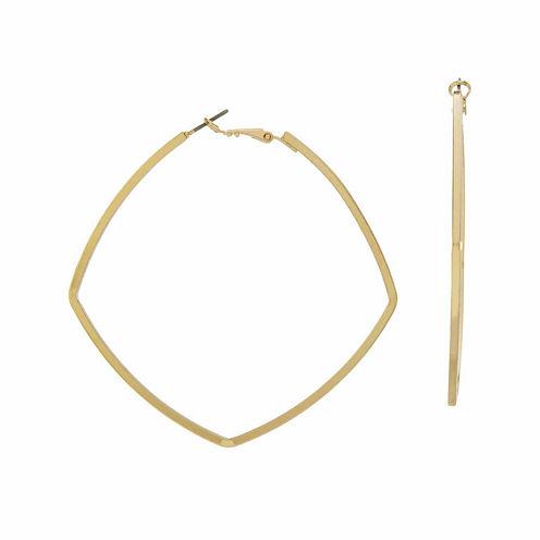 Natasha Gold-Tone Square Metal Earrings