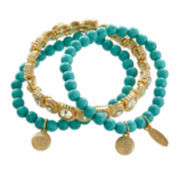 Natasha 3-pc. Gold-Tone Stretch Bracelet Set
