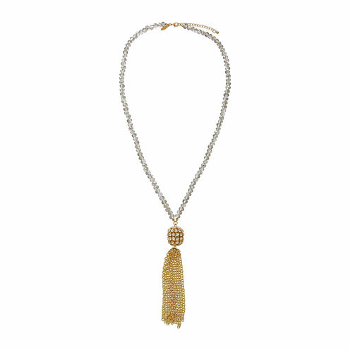 Natasha Beaded Crystal Gold-Tone Necklace