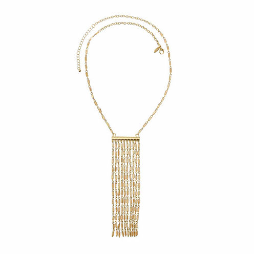 Natasha Champagne Beaded Gold-Tone Necklace
