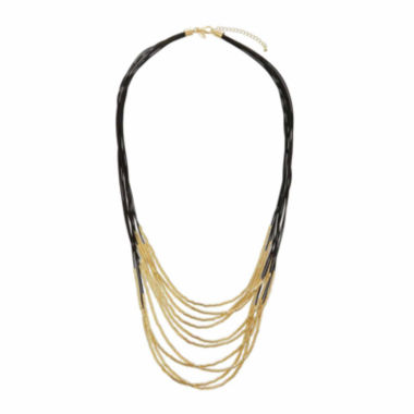 jcpenney.com | Natasha Fabric & Gold-Tone Metal Necklace