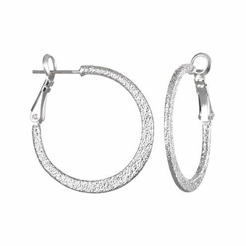 Mixit™Textured Hoop Earrings