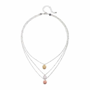 jcpenney.com | Mixit™ 3-Row Disc Necklace