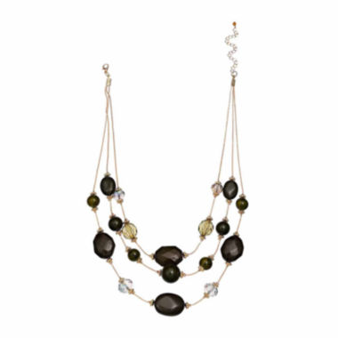 jcpenney.com | MixitTM 3-Row Illusion Bead Necklace