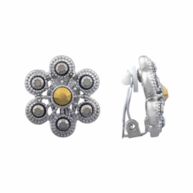 jcpenney.com | Liz Claiborne® Marcasite Clip-On Earrings
