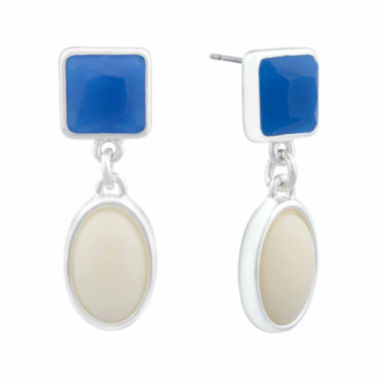 jcpenney.com | Liz Claiborne® Hypoallergenic Double Drop Earrings